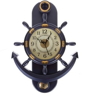 Smile2u Retailers Analog Wall Clock(Metalic grey, With Glass) at flipkart