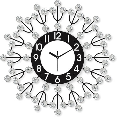 Chronikle Analog Wall Clock(Black, With Glass) at flipkart