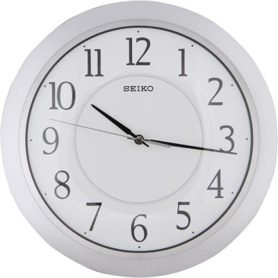 Seiko Analog Wall Clock(White, With Glass)  available at flipkart for Rs.2750