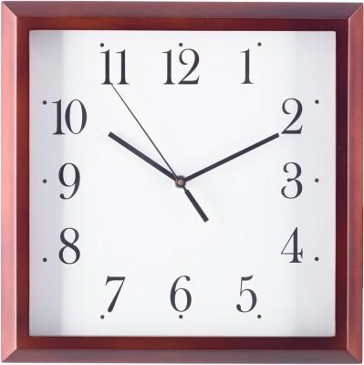 eCraftIndia Analog Wall Clock(Brown, With Glass) at flipkart