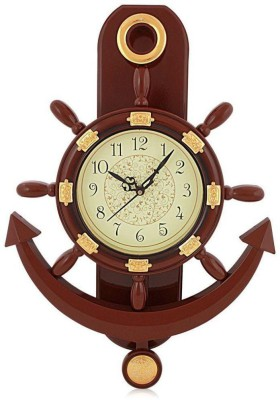Rs 444 mnt ship anchor pendulum wall clock analog 45 cm for Anchor decoration runescape