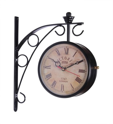 Art My Home Analog 25 cm X 8 cm Wall Clock(Black, With Glass) at flipkart