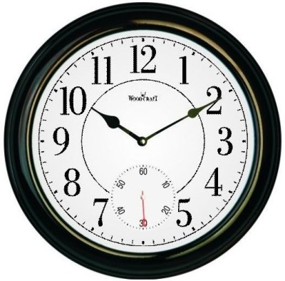 Wood Craft Analog Wall Clock(Black, With Glass)  available at flipkart for Rs.1980
