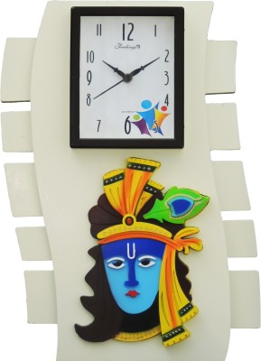 Feelings Celebrations Analog Wall Clock(Off White, With Glass) at flipkart