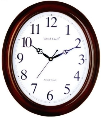 Wood Craft Analog Wall Clock(Metallic, With Glass)  available at flipkart for Rs.1995