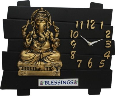 SD ENTERPRISES Analog 20 cm X 2 cm Wall Clock(Black, Without Glass) at flipkart