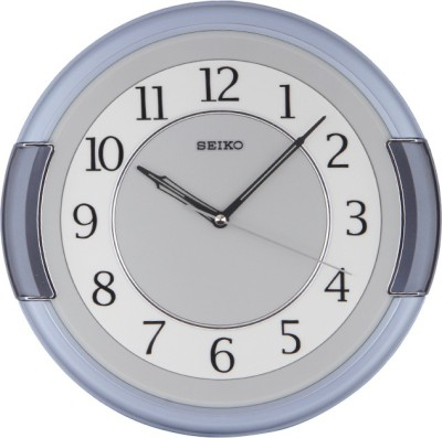 Seiko Analog Wall Clock(Metallic, With Glass)  available at flipkart for Rs.2600