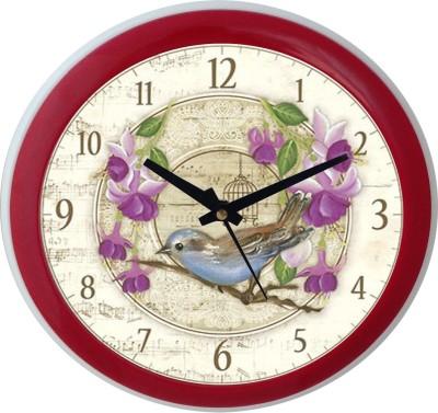 Prateek Retail Analog Wall Clock(Pink, With Glass)