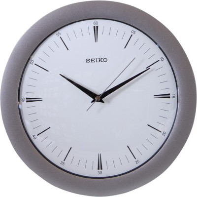Seiko Analog Wall Clock(Metallic, With Glass)  available at flipkart for Rs.2200