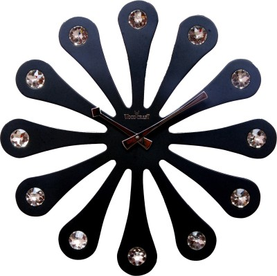 Wood Craft Analog Wall Clock(Black, Without Glass)  available at flipkart for Rs.1825