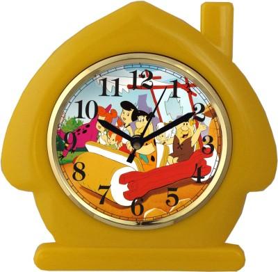 Prateek Retail Analog Wall Clock(Yellow, With Glass)