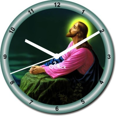 2 O'Clock Analog 31 cm X 31 cm Wall Clock(Multicolor, Without Glass)