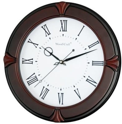 Wood Craft Analog Wall Clock(Metallic, With Glass)  available at flipkart for Rs.1850