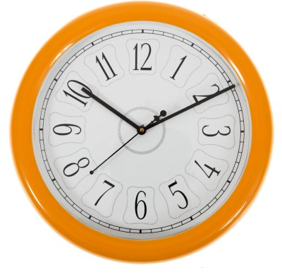 SMERA Analog Wall Clock(Orange, With Glass) at flipkart