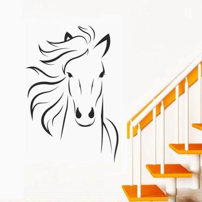Happy walls Majestic Horse(80 cm X cm 50, Black)