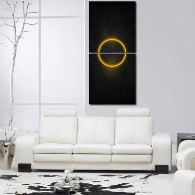 55 Off On 999 Multiple Frames Printed Circle Wall Art Painting 2