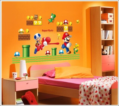 Oren Empower Super Mario Cartoon Large Wall Sticker(65 cm X cm 92, Multicolor)