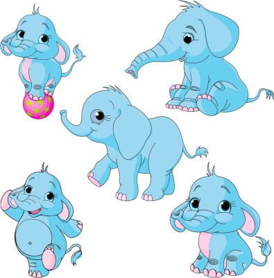 Untumble Cutouts - Elephant Theme Party(Multicolor)