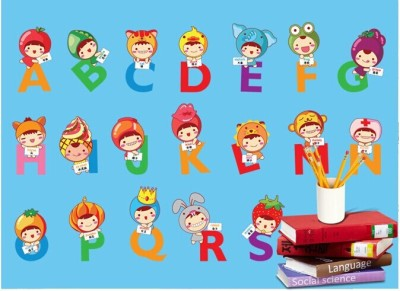 Oren Empower Soft Removable Education Large Wall Stickers(60 cm X cm 70, Multicolor)