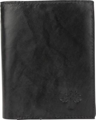 Ananya Men Black Genuine Leather Wallet(10 Card Slots) at flipkart