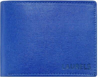 Laurels Men Blue Artificial Leather Wallet 6 Card Slots