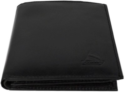 Clubb Men Formal, Casual Black Genuine Leather Wallet 13 Card Slots