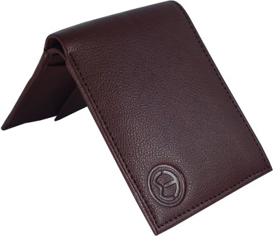 SA Enterprises Men Brown Artificial Leather Wallet 3 Card Slots SA Enterprises Wallets