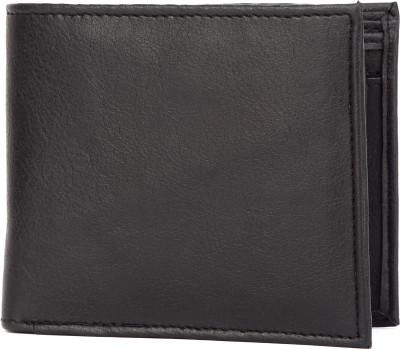Kraft Men Black Artificial Leather Wallet 6 Card Slots