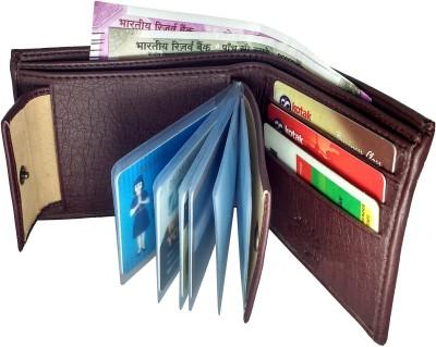 SA Enterprises Men Brown Artificial Leather Wallet 9 Card Slots SA Enterprises Wallets