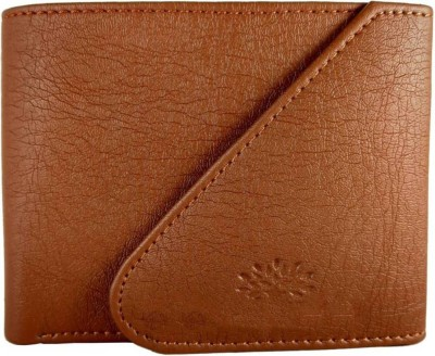 LANDER Men Tan Artificial Leather Wallet 4 Card Slots