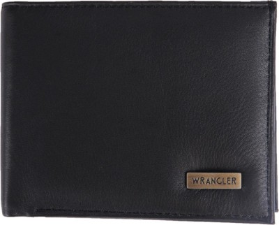 Wrangler Men Black Genuine Leather Wallet 3 Card Slots Wrangler Wallets