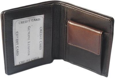 Fashion ALW Men Formal, Casual Brown Artificial Leather Wallet 9 Card Slots Fashion ALW Wallets