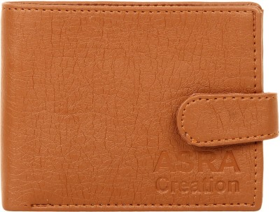 ASRA Creation Men Brown Genuine Leather Wallet 3 Card Slots