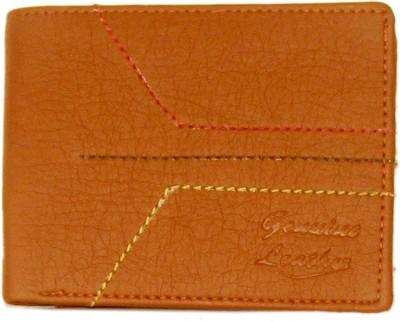 Sky Marketings Men Brown Genuine Leather Wallet(3 Card Slots)