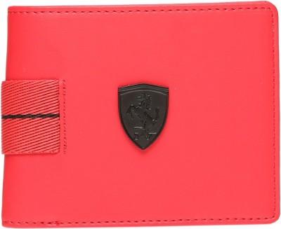 Puma Men Red Canvas Wallet(5 Card Slots)
