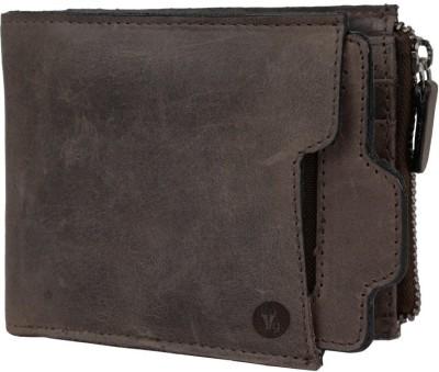 Hidegear Men Formal Brown Genuine Leather Wallet(9 Card Slots) at flipkart