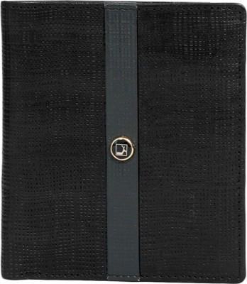 Da Milano Men Black Genuine Leather Wallet(10 Card Slots)