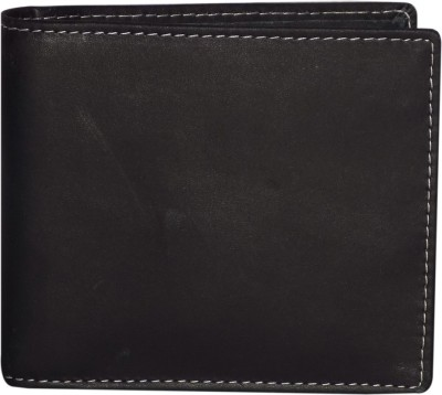 Style 98 Men Black Genuine Leather Money Clip(8 Card Slots)