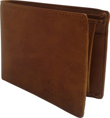 NUKAICHAU Boys Tan Artificial Leather Wallet 3 Card Slots