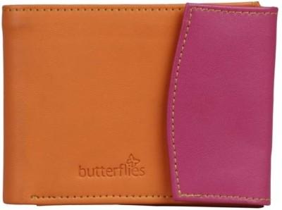 Butterflies Women Casual Orange, Purple  Clutch
