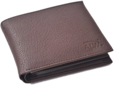 Fashion ALW Men Brown Artificial Leather Wallet 15 Card Slots