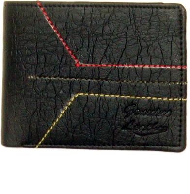 Sky Marketings Men Black Genuine Leather Wallet(3 Card Slots)