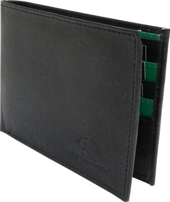 NUKAICHAU Boys Black Artificial Leather Wallet 8 Card Slots