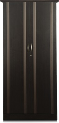 Godrej Interio Zurina Engineered Wood 2 Door Wardrobe(Finish Color - Wenge)