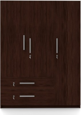 2e15de04138 Buy Urban Ladder Domenico Engineered Wood 3 Door Wardrobe(Finish Color - Dark  Oak) on Flipkart