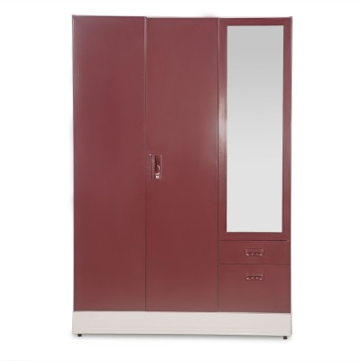 Godrej Interio Slimline Blend Metal Almirah(Finish Color - Cream Red)
