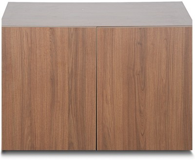 Godrej Interio FIESTA TWO DOOR WALL MOUNTED OHU 900 W Engineered Wood 2 Door Wardrobe(Finish Color - Jakarta Teak)