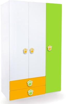Alex Daisy Panda Engineered Wood 3 Door Wardrobe(Finish Color - Yellow - Green - White)
