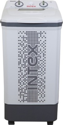 Intex 7.5 kg Semi Automatic Top Load Washer Only White, Grey(Turbo SPA - WM75ST)