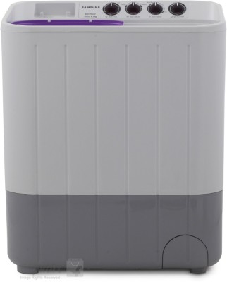 Samsung 6.5Kg Semi Automatic Top Load Washing Machine WhitePurple (WT655QPNDRP/XTL, White Purple)